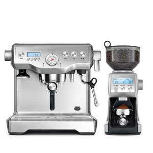 Sage The Dynamic Duo (Brushed Stainless Steel) Incl. 2kg koffie t.w.v. 50 euro