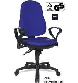 TOPSTAR Bürostuhl Support Synchro, o.Arml., blau