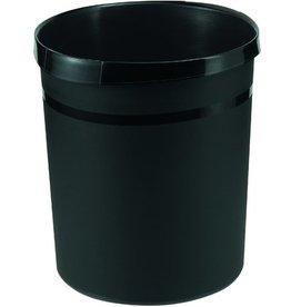 HAN Papierkorb GRIP, PP, rund, 18l, 312x345mm, schwarz