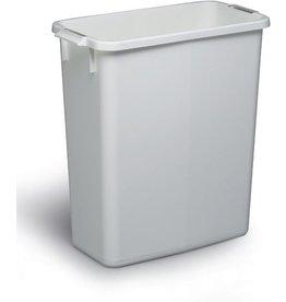 DURABLE Abfalleimer DURABIN 60, Kunststoff, rechteckig, 60l, 555x285x615mm, we