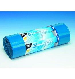PAPSTAR Müllsack, LDPE, 0,045mm, 120l, 700x1.100mm, blau