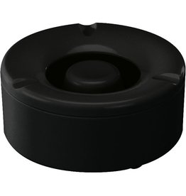 Aschenbecher, Kst., rund, 130x60mm, sw