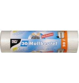 PAPSTAR Müllsack, HDPE, 0,014mm, 20l, 480x550mm, tr