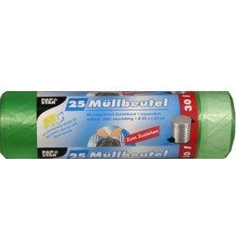 PAPSTAR Müllsack, HDPE, 0,017mm, 30l, 550x700mm, grün