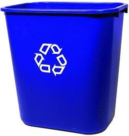 RubbermaidCommercial Products Papierkorb, PE, rechteckig, 26,6 l, 365 x 260 x 380 mm, blau