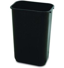 RubbermaidCommercial Products Papierkorb, PE, rechteckig, 26,6 l, 365 x 260 x 380 mm, schwarz
