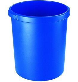 HAN Papierkorb, PP, rund, 30l, 375x410mm, blau