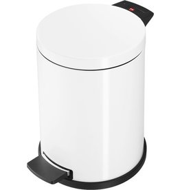 Hailo Tretabfalleimer ProfiLine Solid M, Stahlblech, 12l, 280x360mm, weiß