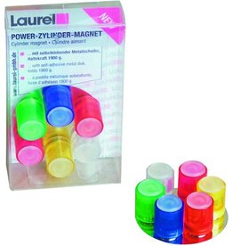 Laurel Magnet POWER, Zylinder, rund, Ø: 14 mm, Haftkraft: 1.900 g, sortiert