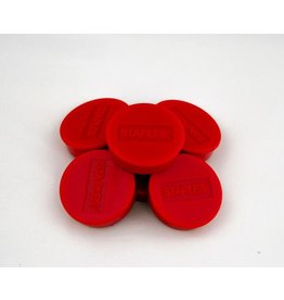 STAPLES Magnet, für 15 Blatt A4 80 g/m², rund, Ø: 35 mm, rot