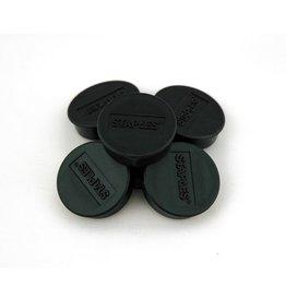 STAPLES Magnet, für 15 Blatt A4 80 g/m², rund, Ø: 35 mm, schwarz