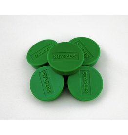STAPLES Magnet, für 8 Blatt A4 80 g/m², rund, Ø: 25 mm, grün