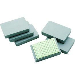 Legamaster Magnet, rechte., 50x75mm, 12mm, Haftkraft: 2.500g, grau