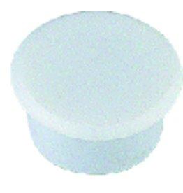 ALCO Magnet, rund, Ø: 13 mm, 7 mm, Haftkraft: 100 g, weiß