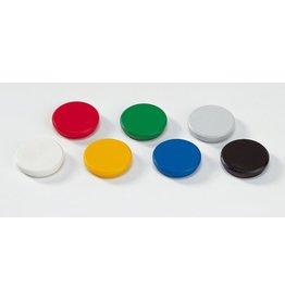 DAHLE Magnet, rund, Ø: 24 mm, Haftkraft: 300 g, sortiert [10st]