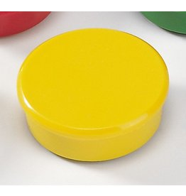 DAHLE Magnet, rund, Ø: 38 mm, Haftkraft: 2.500 g, gelb [10st]