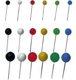 STAPLES Markierungsnadel, Rundk., Kopf: 4 mm, Gesamtlänge: 15 mm, sort.