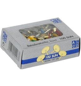 ALCO Reißnagel SUN, kunststoffüberzogen, Kopf: 9,5 mm, sortiert