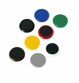 ALCO Magnet, rund, Ø: 32 mm, Haftkraft: 800 g, weiß