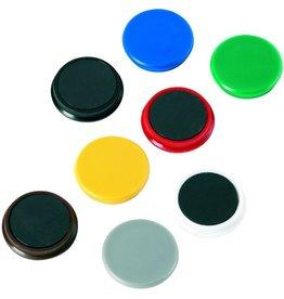 ALCO Magnet, rund, Ø: 13 mm, 7 mm, Haftkraft: 100 g, gelb