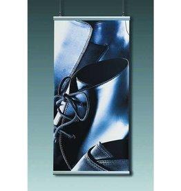 Wandschiene, Set, Aluminium, z.Anschrauben, L: 100 cm, silber
