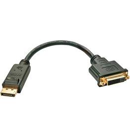 LINDY Adapter, DP/DVI-D - Stecker/Buchse, L: 0,15 m, schwarz