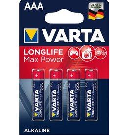 VARTA Batterie LONGLIFE Max Power, Alkali-Mangan, Micro, AAA, LR03, 1,5V