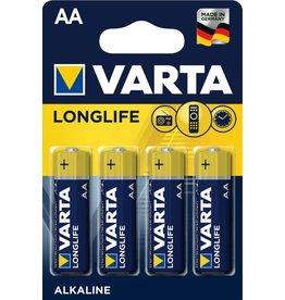 VARTA Batterie LONGLIFE, Mignon, AA, LR6, 1,5V, 2.600 mAh