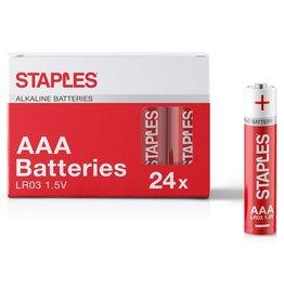 STAPLES Batterie, Alkaline, Micro, AAA, LR03, 1,5 V