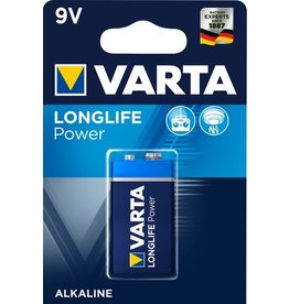 VARTA Batterie, LONGLIFE Power, E-Block, 9V-Block, 6LR61, 9V, 580 mAh