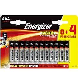 Energizer Batterie, max + POWERSEAL, Micro, AAA, LR03, 1,5 V