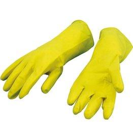 BÜRSTENMANN Handschuh, beflockt, Größe: M, Größe: 8, gelb