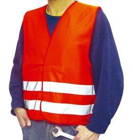 Warnweste, m. reflektierenden Streifen, Größe: L, orange