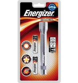 Energizer Taschenlampe Metal, groß, 2xAA, m.Batterien, 5LEDs