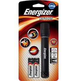 Energizer Taschenlampe X-Focus, 2xAA, m.Batterien, mit Griff, LED, Reichw.: 38m