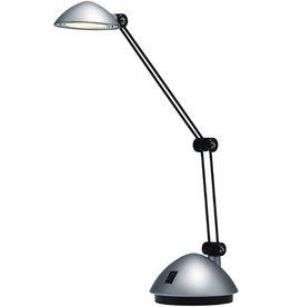 Hansa Tischleuchte Space, mit Tischfuß, LED, 3 W, silber, satiniert
