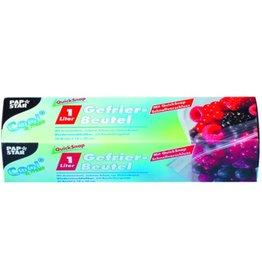 PAPSTAR Gefrierbeutel QuickSnap, LLDPE, 0,045mm, 1l, 18x20cm, fl, tr