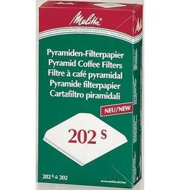 Melitta Kaffeefiltertüte, 202S, weiß