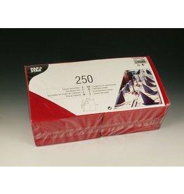 PAPSTAR Serviette, Tissue, 3lg., 1/4 Falz, 33x33cm, bordeaux