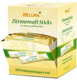 HELLMA Zitronensaft, Displaykarton, 100 Sticks à 4 ml