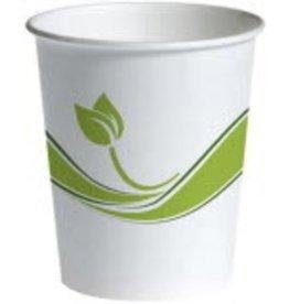 Sustainable Earth By Staples Becher, Pappe, rund, 280 ml, weiß/grün