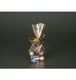 PAPSTAR Frischhaltebeutel, Sterne, PP, 9,5 x 4 x 16 cm, farblos/gold