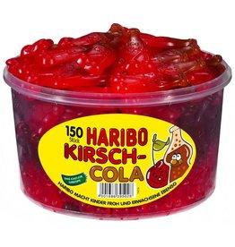 HARIBO Fruchtgummi, 150 Stück, KIRSCH-COLA, Klarsichtdose