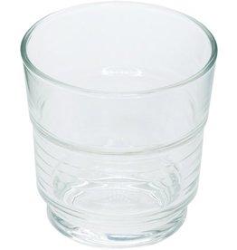 Arcoroc Glas, Spirale, stapelbar, rund, 200ml, 7,7x7,7cm