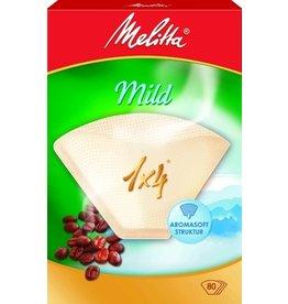 Melitta Kaffeefiltertüte, Mild, 1 x 4, braun