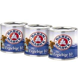 Bärenmarke Kondensmilch, Die Ergiebige, 10 %, 3 Dosen à 170 g