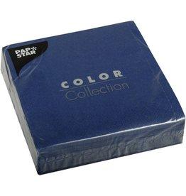 PAPSTAR Serviette COLOR Collection, 3lagig, 1/4 Falz, 33 x 33 cm, dunkelblau