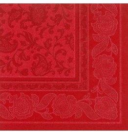 PAPSTAR Serviette, ROYAL Ornaments, Tissue, 1/4 Falz, 40 x 40 cm, rot