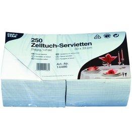 PAPSTAR Serviette, Tissue, 2lg., 1/4 Falz, 33x33cm, weiß