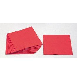 PAPSTAR Serviette, Tissue, 3lg., 1/4 Falz, 33x33cm, rot